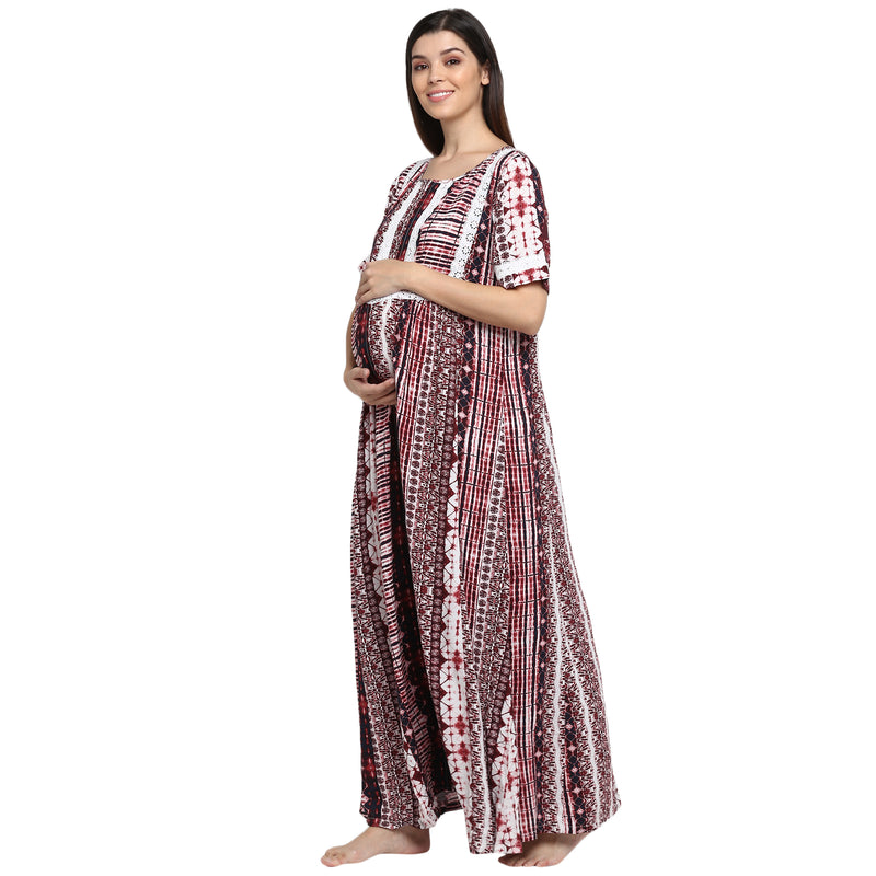 "The ""Calm"" Nightdress - momsoon maternity fashion wear"