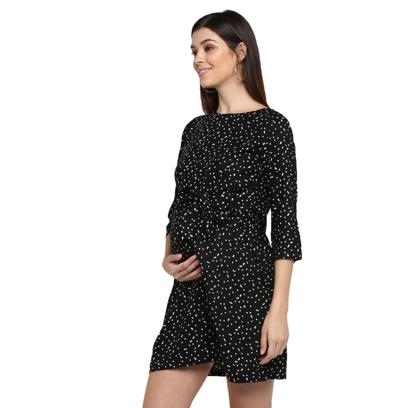 "The ""Polka"" Dress - momsoon maternity fashion wear"