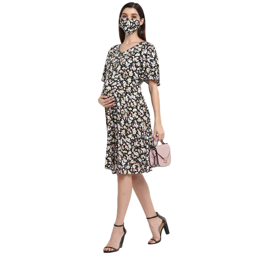 "The ""Bouquet"" Dress With Matching Fashion Mask"