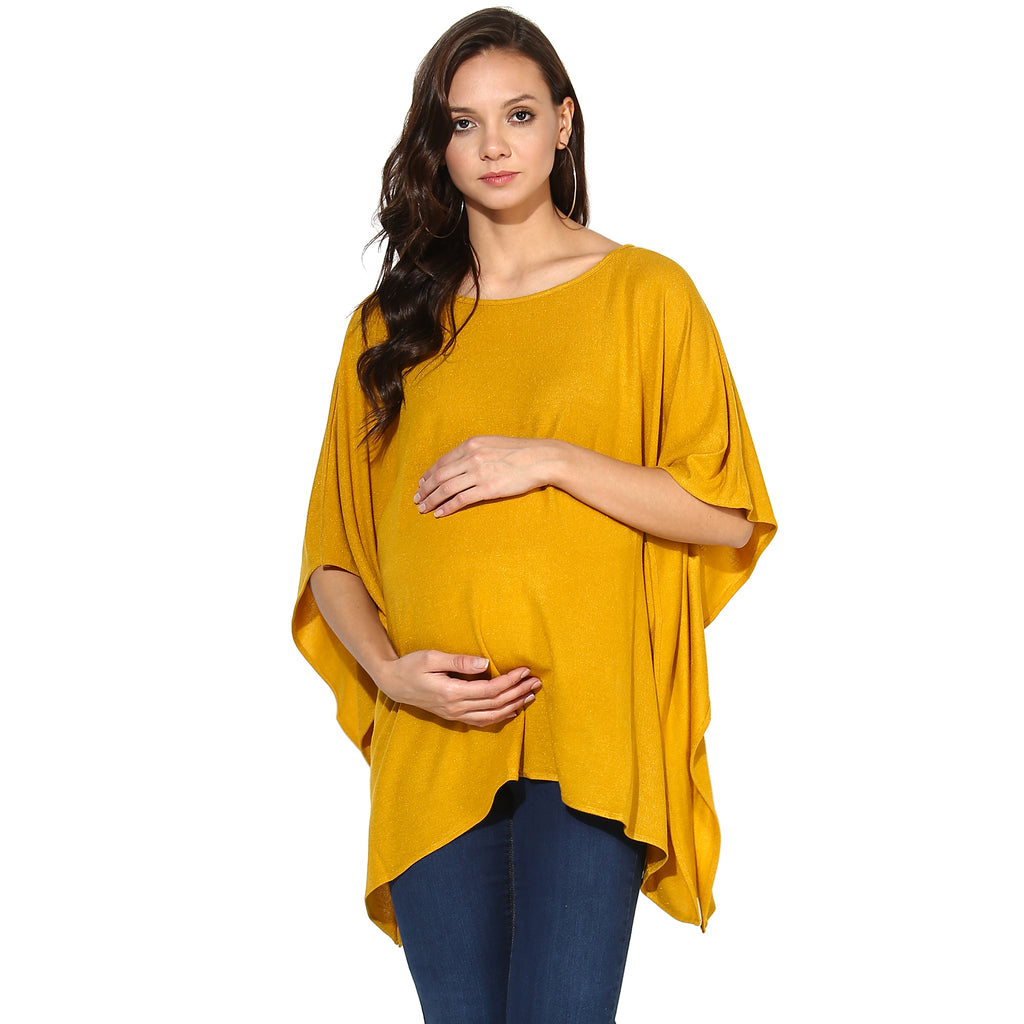Kimono Style Yellow Top - momsoon maternity fashion wear