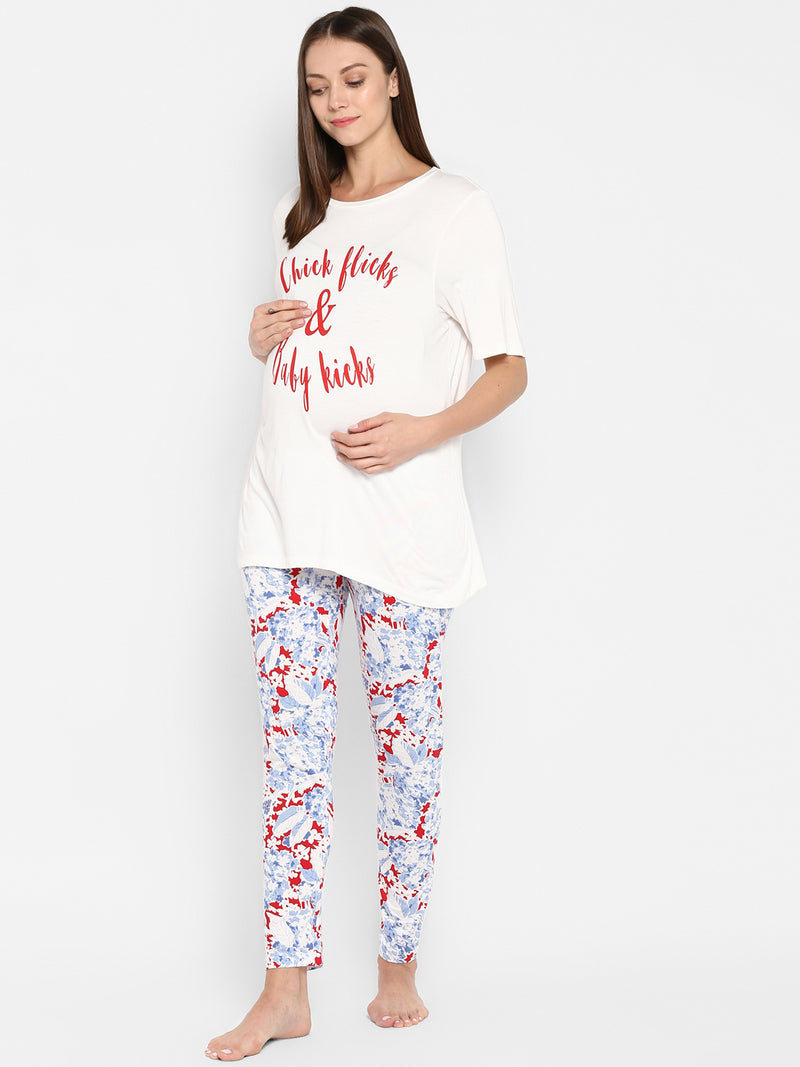 "The ""Chick Flicks"" Night/Lounge Set - momsoon maternity fashion wear"