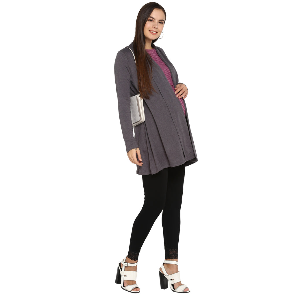 Momsoon Maternity Full Sleeves Cardigan - momsoon maternity fashion wear