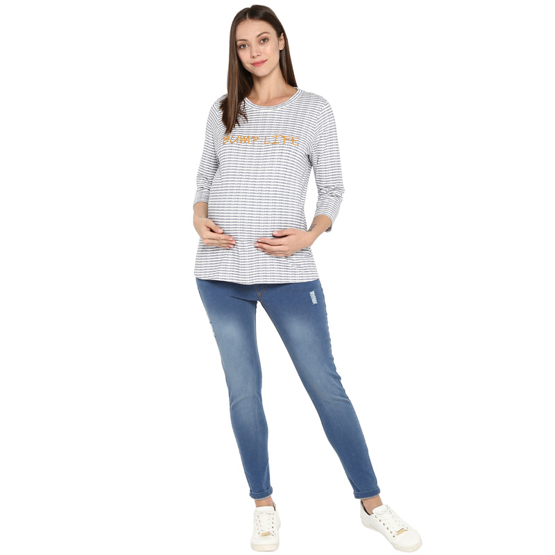 Momsoon Ripped Denim - momsoon maternity fashion wear
