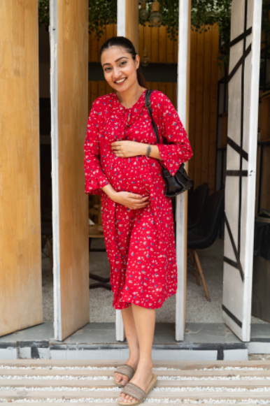 "The ""Ruby"" Dress - momsoon maternity fashion wear"