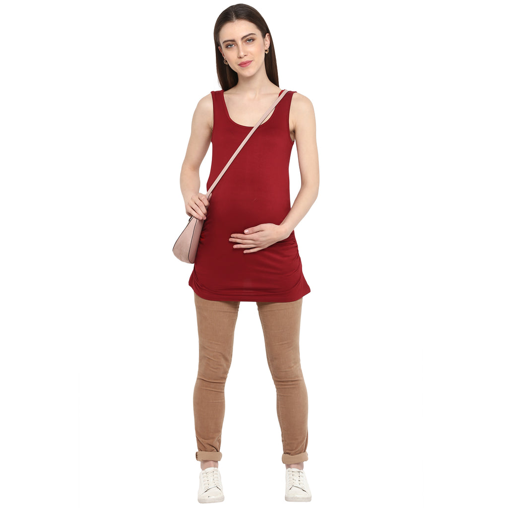 Red Hot Nursing Cami - momsoon maternity fashion wear