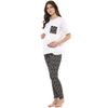 Diamond Printed Legging and Tee Pyjama Set - momsoon maternity fashion wear