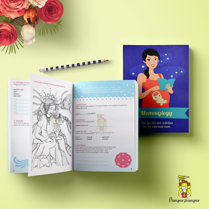 Pamper Hamper Mommylogy Puzzle And Activity Book For Expecting Mom - momsoon maternity fashion wear