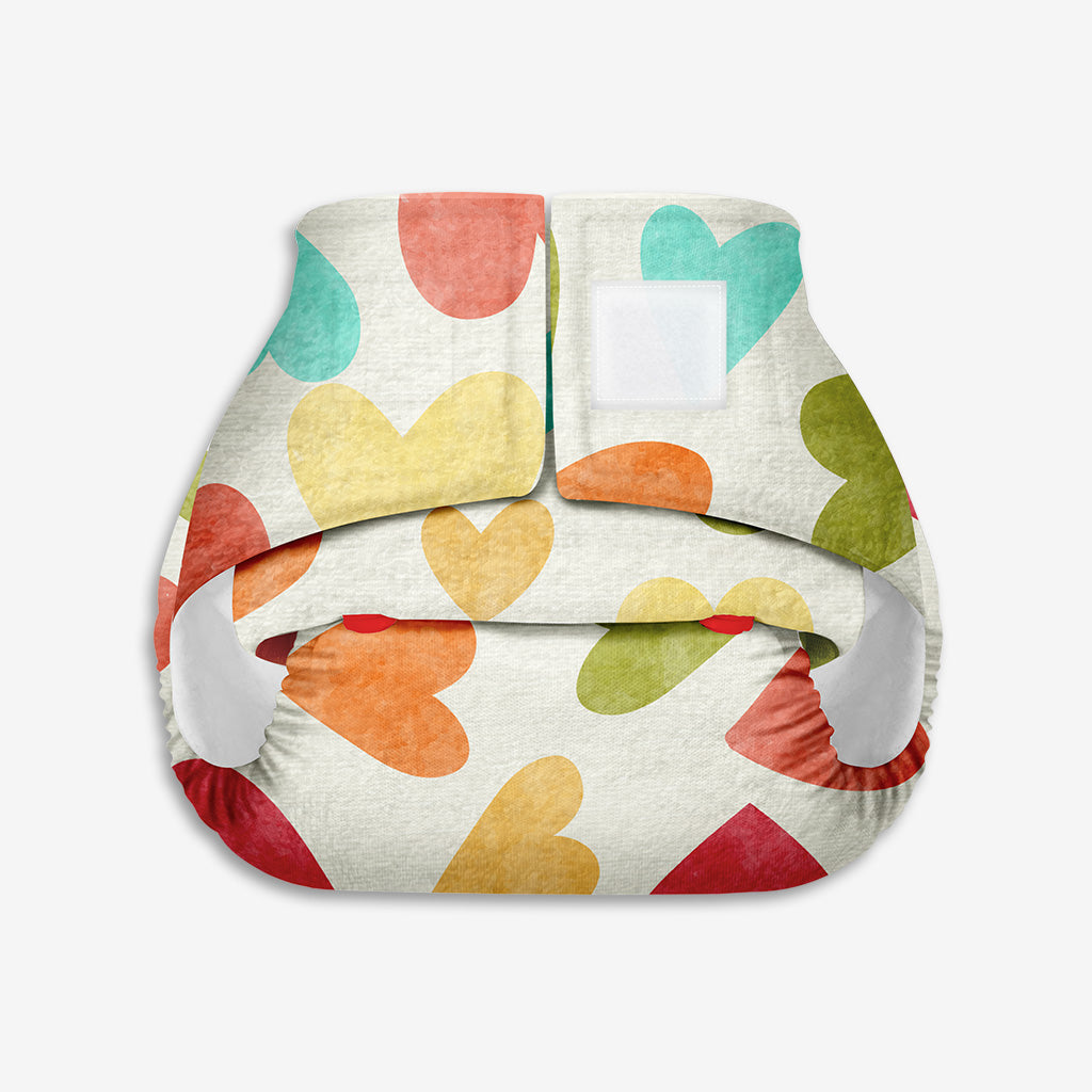 Superbottoms Newborn UNO - Washable & resuable cloth diaper + 1 Organic Cotton Dry Feel Pad (2.5kg- 6kg Babies)- Baby Hearts