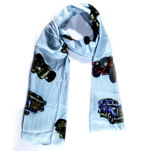 Sky Blue Printed Stole - momsoon maternity fashion wear