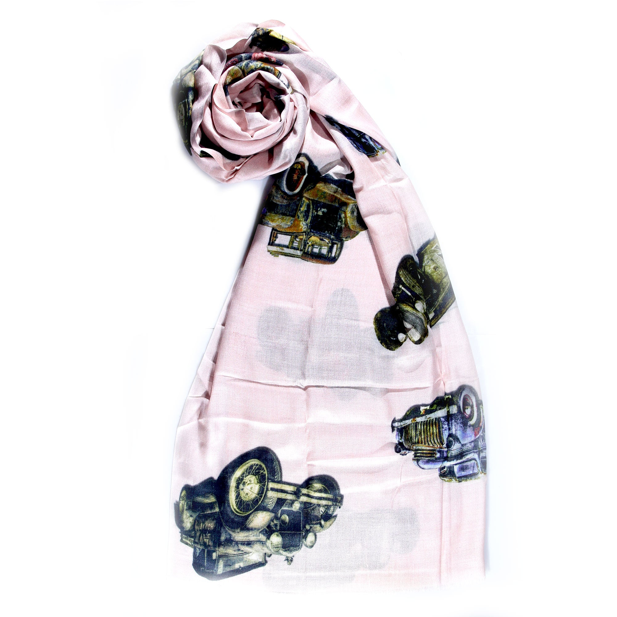 Pink Printed Stole - momsoon maternity fashion wear