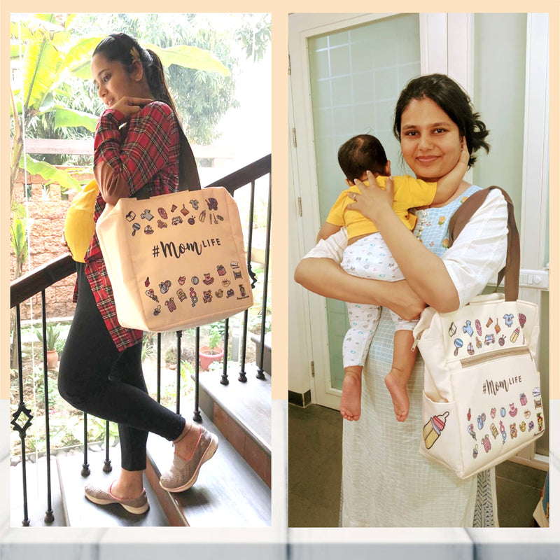 Pamper Hamper Multipurpose Stylish Diaper Bag for Mom and Baby! - momsoon maternity fashion wear