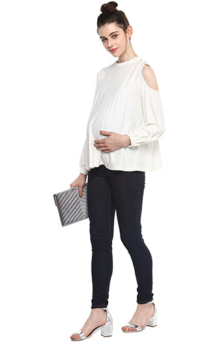 Blue Denim Jeans - momsoon maternity fashion wear