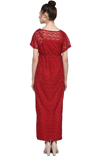 Formal Lace Maxi - momsoon maternity fashion wear