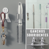 Smiley Hooks - Kit de Ganchos Organizadores