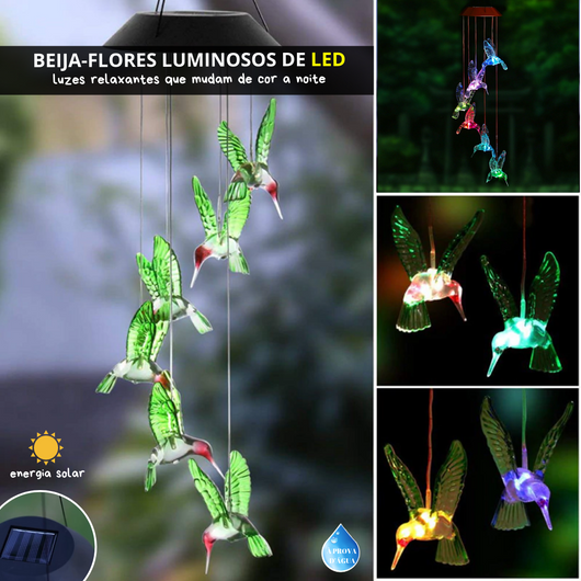 Shine & Shimmer - Beija-flor Luminoso de LED