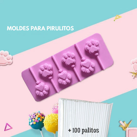 Pop Treat - Kit de Moldes para Pirulito