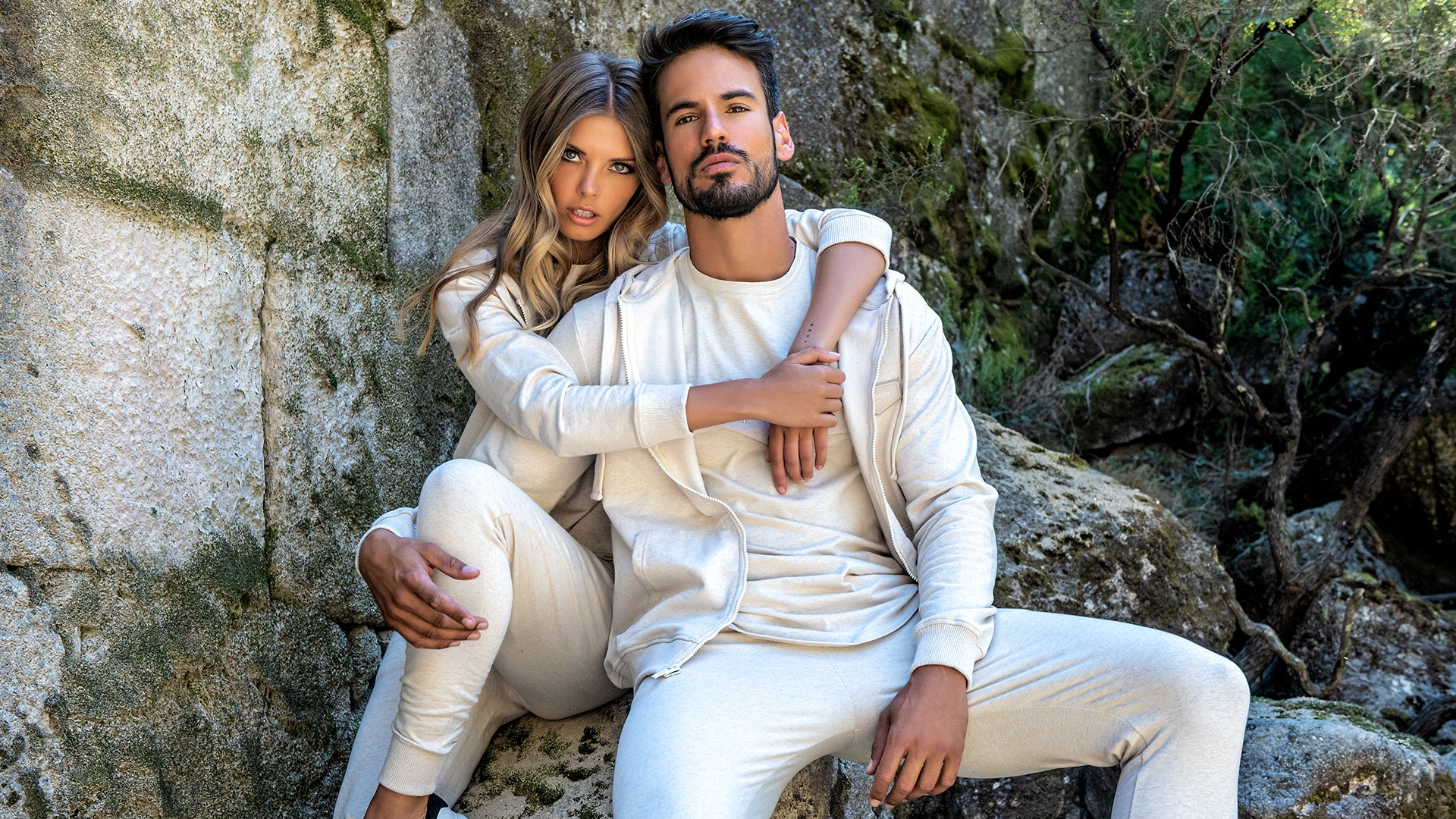 man and woman wearing Gianni Kavanagh's sustainable and ecological clothes