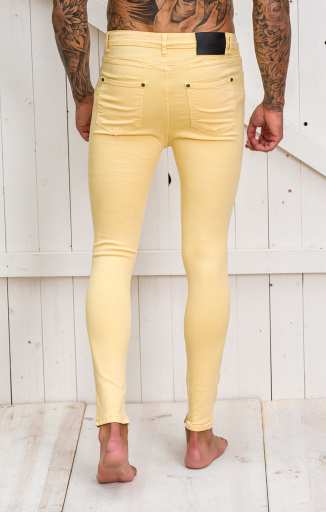Yellow Destroyed Jeans