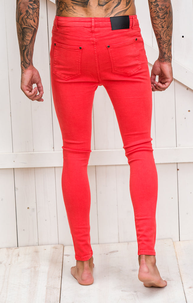 Clean Red Jeans
