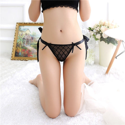 Lace Mesh G-string Ties Thong