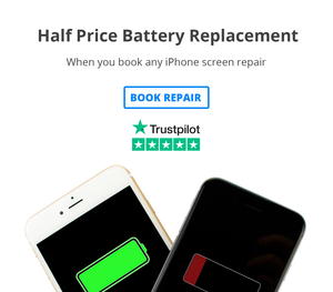 half price battery with any iphone screen repair