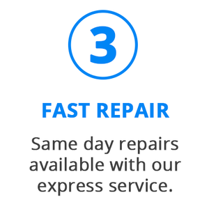 We repair your device fast and return it to you
