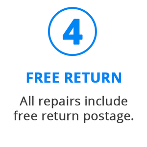 all repairs include free return postage