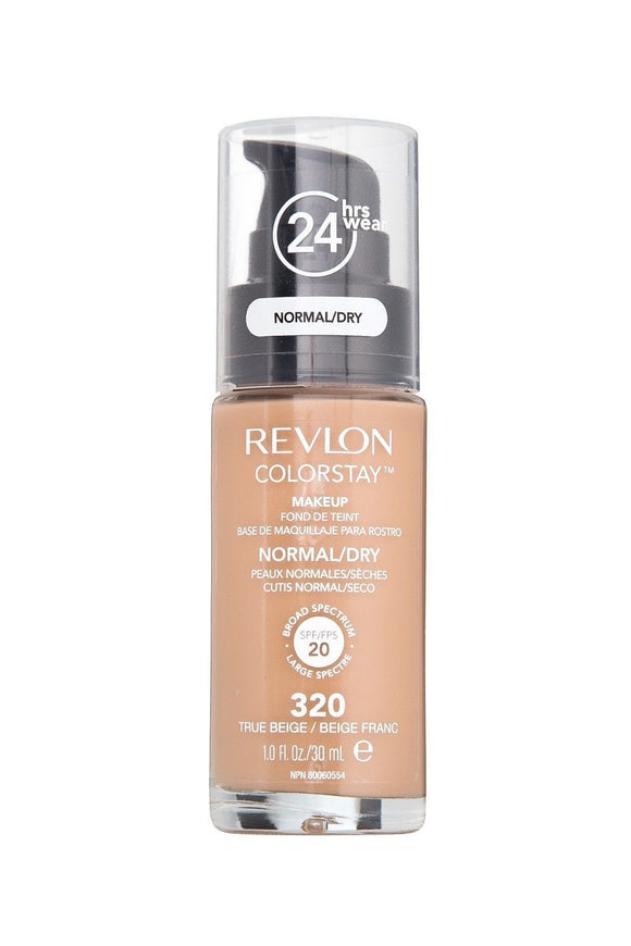 Revlon Colorstay Foundation NORMAL/DRY SKIN SPF 20, 320 TRUE BEIGE