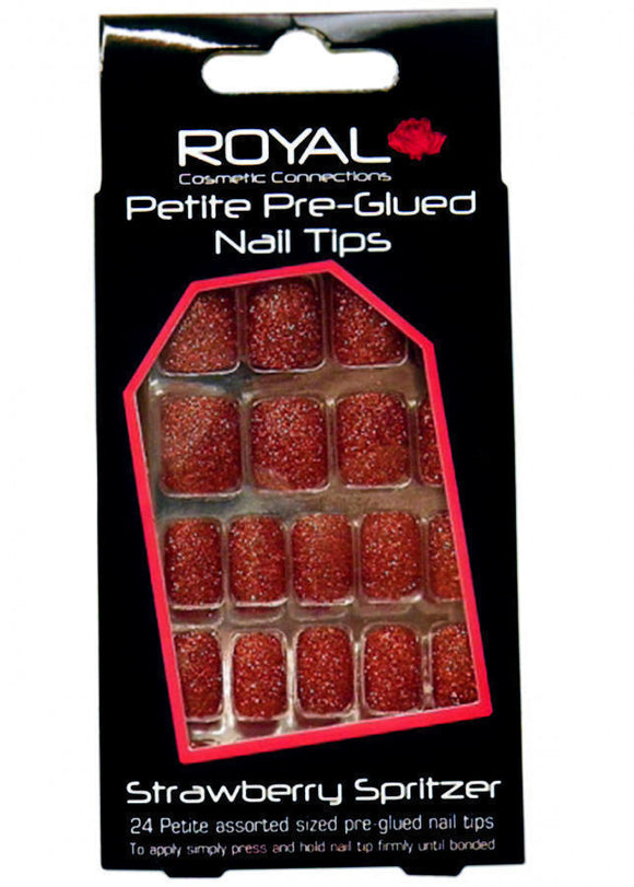 Royal 24 Petite Pre-Glued Nail Tips Strawberry spritzer
