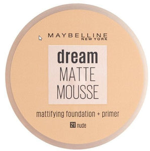 Maybelline Dream Matte Mousse MATTIFYING PRIMER 21 NUDE new packaging