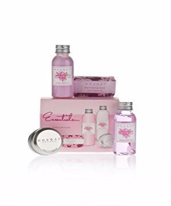 Cherry Blossom Travel Essentials Set by Nougat London