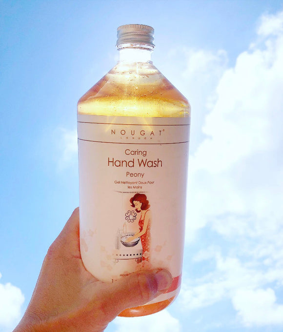 Peony Caring Hand Wash 1 Litre by Nougat London