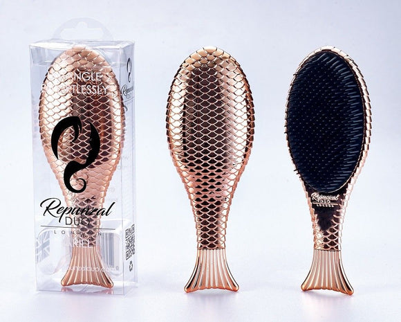 Repunzal Duo Ariel Hair Brush Gold Fish