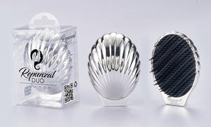 Repunzal Duo Pearl Hair Brush Silver