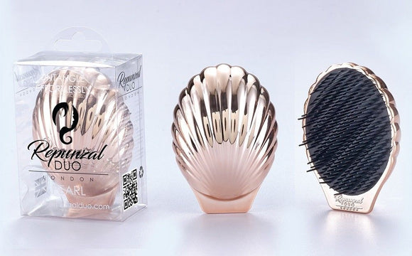 Repunzal Duo Pearl Hair Brush Rose