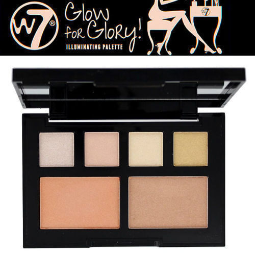 W7 Glow For Glory illuminating Face & Cheeks Glow Palette
