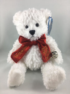 Teddy Bear with Red Velvet Bow Tie