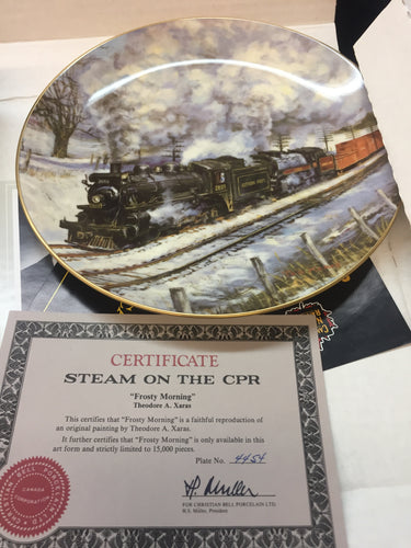 Collector Train Plates with Certificate