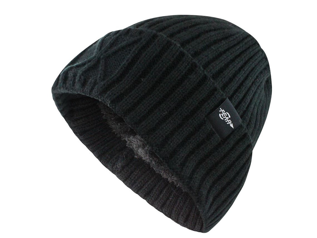 0Fear Extreme Warm Black Cuff Winter Sport Skullies Beanie Hat Men / Women - OwensAssetFund Gifts