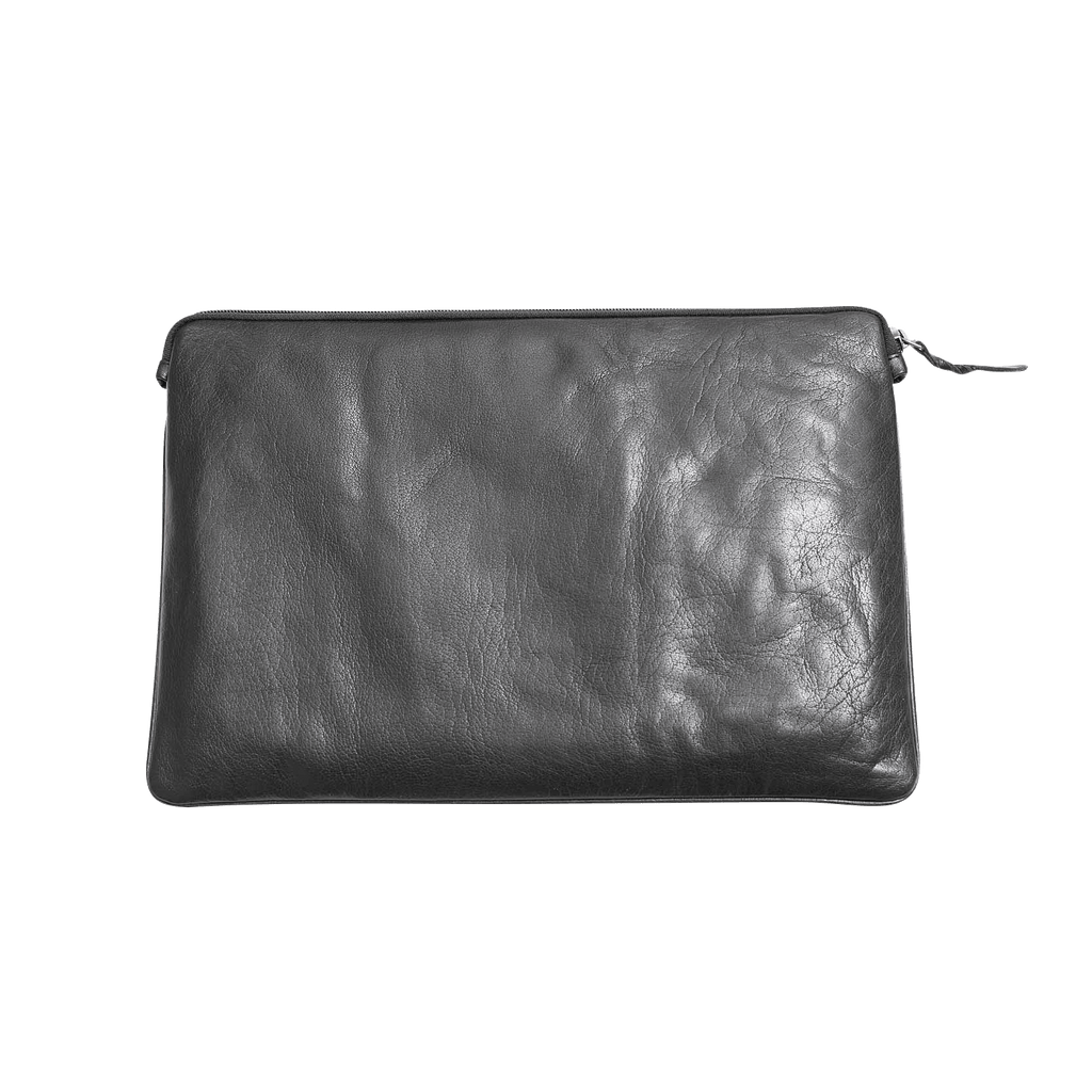 Macbook air sleeve svart skinn