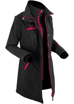 Stretch softshell dolga jakna