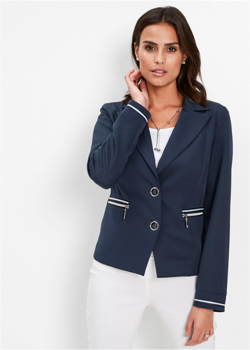 Stretch blazer s fazona ovratnikom