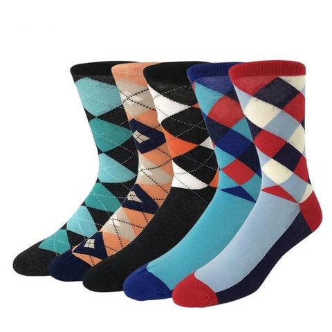 Davis Men Crew Socks Dress Business, 5 pairs
