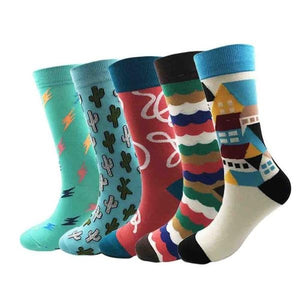 Provo Men Crew Socks Dress Business, 5 pairs