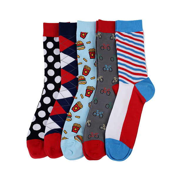 San Diego Men Crew Socks Dress Business, 5 pairs