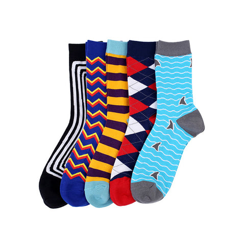 Rhode Island Men Crew Socks Dress Business, 5 pairs