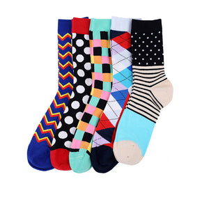 Philadelphia Men Crew Socks Dress Business, 5 pairs
