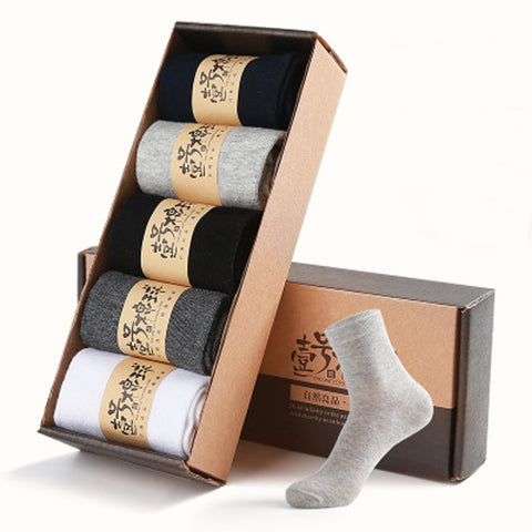 2018 High Quality Solid Man British Style Male Socks Fashion Casual Sock 5 Pair