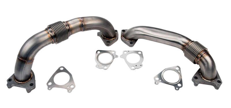 "2001-2016 DURAMAX 2"" STAINLESS SINGLE TURBO UP PIPE KIT FOR OEM MANIFOLDS W/ GASKETS"