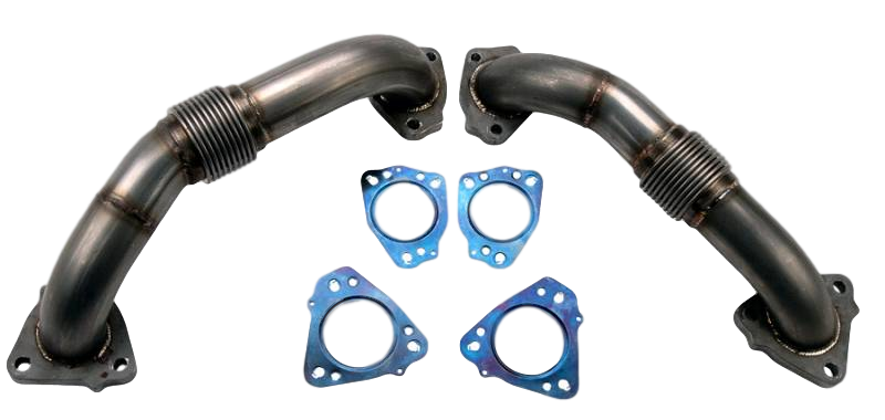 2017-2020 L5P Duramax 2 Inch Stainless UP-Pipe Kit for OEM Manifolds w/ Gaskets